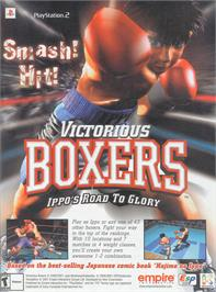 Advert for Victorious Boxers: Ippo's Road to Glory on the Sony Playstation 2.