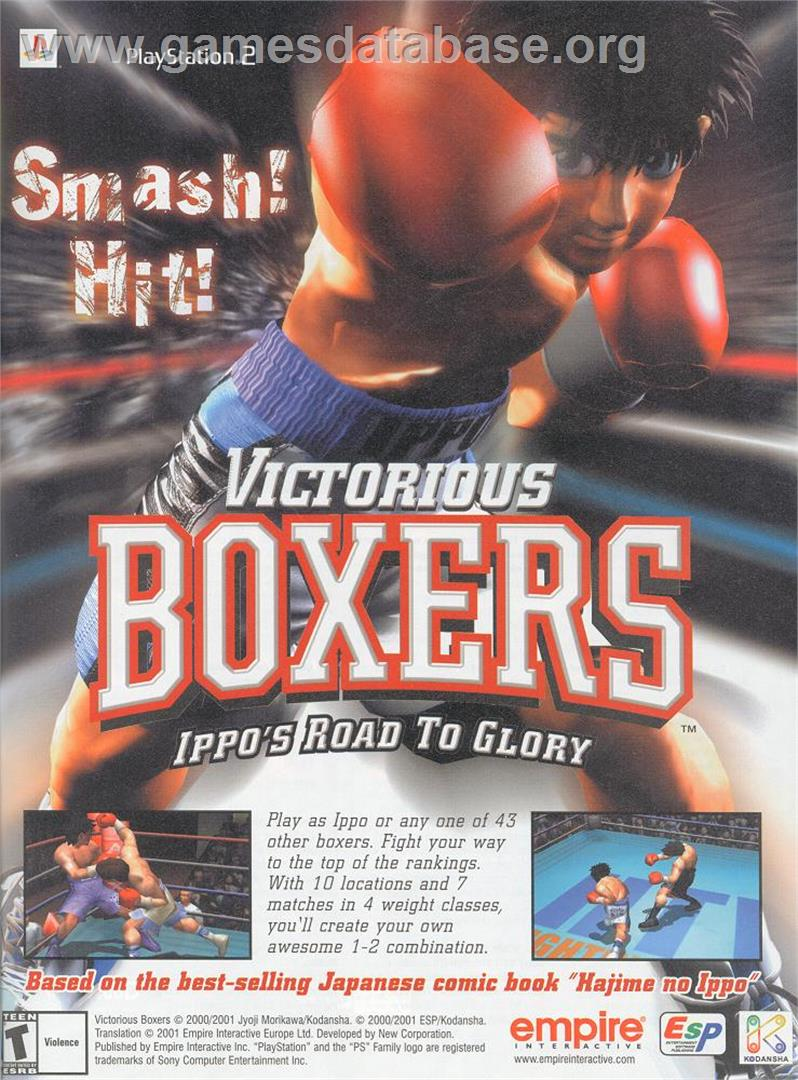 for Victorious Boxers: Ippo's Road to Glory on the Sony Playstation 2