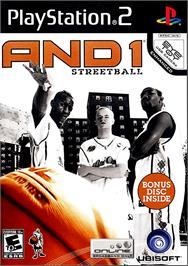 Box cover for AND 1 Streetball on the Sony Playstation 2.
