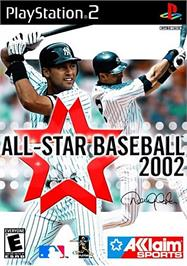Box cover for All-Star Baseball 2002 on the Sony Playstation 2.