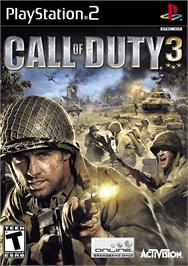 Box cover for Call of Duty 3 on the Sony Playstation 2.