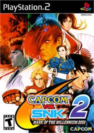 Box cover for Capcom vs. SNK 2: Mark of the Millennium on the Sony Playstation 2.