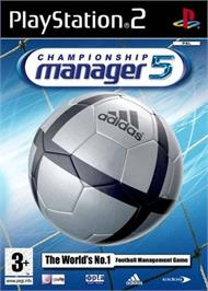 Box cover for Championship Manager 5 on the Sony Playstation 2.