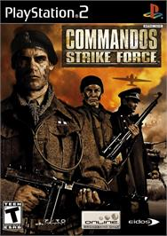Box cover for Commandos: Strike Force on the Sony Playstation 2.
