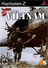 Box cover for Conflict: Vietnam on the Sony Playstation 2.