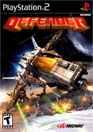 Box cover for Defender on the Sony Playstation 2.