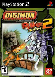 Box cover for Digimon Rumble Arena 2 on the Sony Playstation 2.