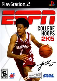 Box cover for ESPN College Hoops 2K5 on the Sony Playstation 2.
