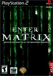 Box cover for Enter the Matrix on the Sony Playstation 2.