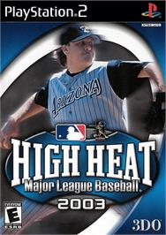 Box cover for High Heat Major League Baseball 2003 on the Sony Playstation 2.