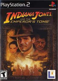 Box cover for Indiana Jones and the Emperor's Tomb on the Sony Playstation 2.