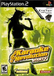 Box cover for Karaoke Revolution Party on the Sony Playstation 2.