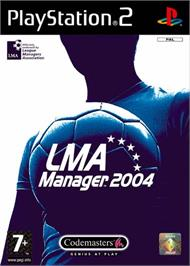 Box cover for LMA Manager 2004 on the Sony Playstation 2.