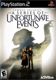 Box cover for Lemony Snicket's A Series of Unfortunate Events on the Sony Playstation 2.