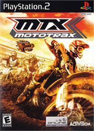 Box cover for MTX Mototrax on the Sony Playstation 2.