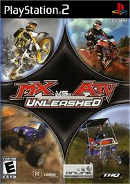 Box cover for MX vs. ATV Unleashed on the Sony Playstation 2.