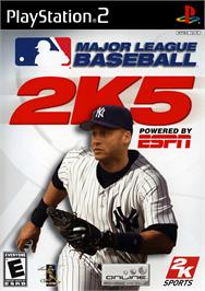 Box cover for Major League Baseball 2K5 on the Sony Playstation 2.
