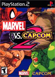 Box cover for Marvel vs. Capcom 2 on the Sony Playstation 2.