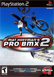 Box cover for Mat Hoffman's Pro BMX 2 on the Sony Playstation 2.