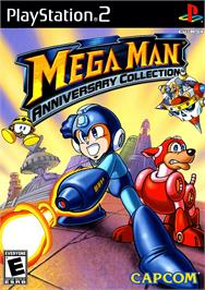 Box cover for Mega Man Anniversary Collection on the Sony Playstation 2.