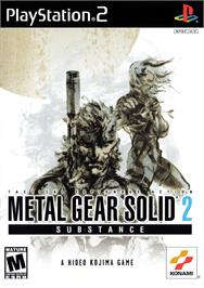 Box cover for Metal Gear Solid 2: Substance on the Sony Playstation 2.