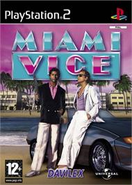 Box cover for Miami Vice on the Sony Playstation 2.