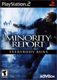 Box cover for Minority Report: Everybody Runs on the Sony Playstation 2.