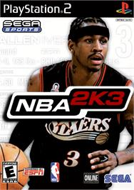 Box cover for NBA 2K3 on the Sony Playstation 2.
