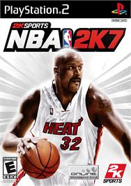 Box cover for NBA 2K7 on the Sony Playstation 2.