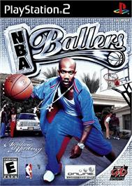 Box cover for NBA Ballers on the Sony Playstation 2.