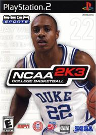 Box cover for NCAA College Basketball 2K3 on the Sony Playstation 2.