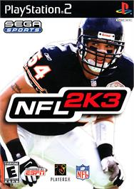 Box cover for NFL 2K3 on the Sony Playstation 2.
