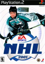 Box cover for NHL 2001 on the Sony Playstation 2.