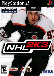 Box cover for NHL 2K3 on the Sony Playstation 2.