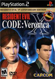Box cover for Resident Evil: Code: Veronica X on the Sony Playstation 2.