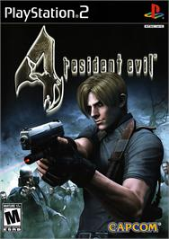 Box cover for Resident Evil 4 on the Sony Playstation 2.