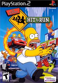 Box cover for Simpsons: Hit & Run on the Sony Playstation 2.