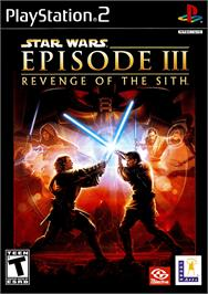 Box cover for Star Wars: Episode III - Revenge of the Sith on the Sony Playstation 2.