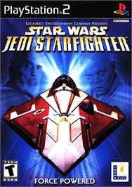 Box cover for Star Wars: Jedi Starfighter on the Sony Playstation 2.
