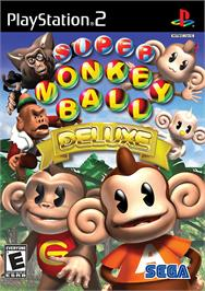 Box cover for Super Monkey Ball Deluxe on the Sony Playstation 2.