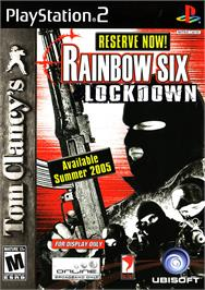 Box cover for Tom Clancy's Rainbow Six: Lockdown on the Sony Playstation 2.