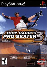 Box cover for Tony Hawk's Pro Skater 3 on the Sony Playstation 2.