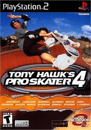 Box cover for Tony Hawk's Pro Skater 4 on the Sony Playstation 2.