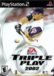 Box cover for Triple Play Baseball on the Sony Playstation 2.