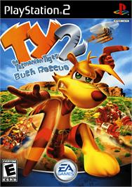 Box cover for Ty the Tasmanian Tiger 2: Bush Rescue on the Sony Playstation 2.