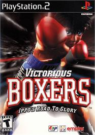 Box cover for Victorious Boxers: Ippo's Road to Glory on the Sony Playstation 2.