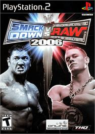 Box cover for WWE Smackdown vs. Raw 2006 on the Sony Playstation 2.