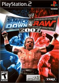 Box cover for WWE Smackdown vs. Raw 2007 on the Sony Playstation 2.
