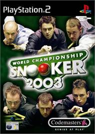 Box cover for World Championship Snooker 2003 on the Sony Playstation 2.
