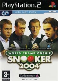 Box cover for World Championship Snooker 2004 on the Sony Playstation 2.